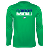 Syntrel Performance Kelly Green Longsleeve Shirt-Basketball Stacked