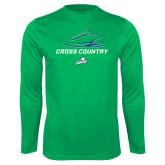 Performance Kelly Green Longsleeve Shirt-Cross Country Shoe