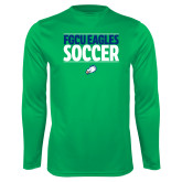 Performance Kelly Green Longsleeve Shirt-Stacked Soccer
