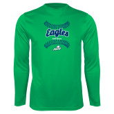 Performance Kelly Green Longsleeve Shirt-Softball Seams