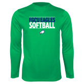 Syntrel Performance Kelly Green Longsleeve Shirt-Softball Stacked