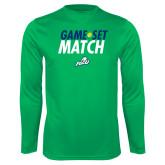 Syntrel Performance Kelly Green Longsleeve Shirt-Game Set Match Tennis