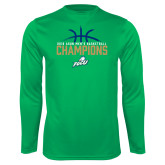 Performance Kelly Green Longsleeve Shirt-2016 Atlantic Sun Conference Champions Mens Basketball