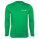 Performance Kelly Green Longsleeve Shirt-FGCU20 Plus Logo