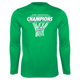 Syntrel Performance Kelly Green Longsleeve Shirt-Regular Season Champions 2017 Mens Basketball Net Design