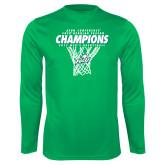 Syntrel Performance Kelly Green Longsleeve Shirt-Regular Season Champions 2017 Mens Basketball Net Design