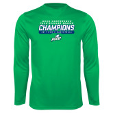 Syntrel Performance Kelly Green Longsleeve Shirt-Regular Season Champions 2017 Mens Basketball Bar Design
