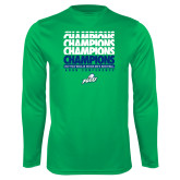 Syntrel Performance Kelly Green Longsleeve Shirt-Regular Season Champions 2017 Mens Basketball Champions Repeating