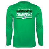 Syntrel Performance Kelly Green Longsleeve Shirt-Asun Conference 2017 Womens Basketball Champions