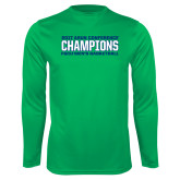 Syntrel Performance Kelly Green Longsleeve Shirt-ASUN Champions 2017 Mens Basketball