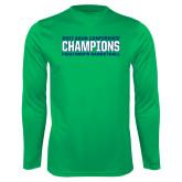 Syntrel Performance Kelly Green Longsleeve Shirt-ASUN Champions 2017 Mens Basketball
