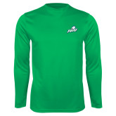 Performance Kelly Green Longsleeve Shirt-Primary Athletic Mark