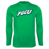 Syntrel Performance Kelly Green Longsleeve Shirt-FGCU