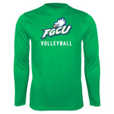 Syntrel Performance Kelly Green Longsleeve Shirt-Volleyball