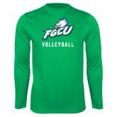 Performance Kelly Green Longsleeve Shirt-Volleyball