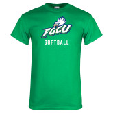 Kelly Green T Shirt-Softball