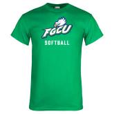 Kelly Green T Shirt-Softball
