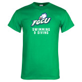 Kelly Green T Shirt-Swimming and Diving