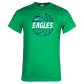 Kelly Green T Shirt-Basketball in Ball