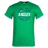 Kelly Green T Shirt-Basketball in Ball