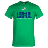 Kelly Green T Shirt-Basketball Triple Stacked