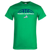 Kelly Green T Shirt-Basketball Half Ball