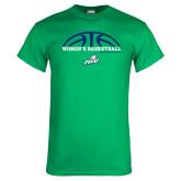 Kelly Green T Shirt-Basketball Half Ball