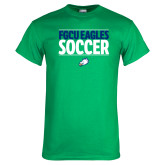 Kelly Green T Shirt-Stacked Soccer
