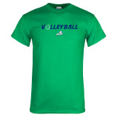 Kelly Green T Shirt-Volleyball w/ Ball