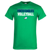 Kelly Green T Shirt-Volleyball Stacked