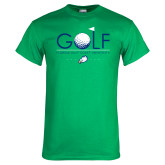Kelly Green T Shirt-Golf Flag and Ball