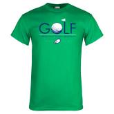 Kelly Green T Shirt-Golf Flag and Ball