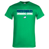 Kelly Green T Shirt-Swimming and Diving Stacked