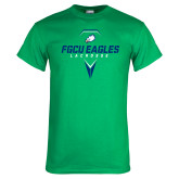 Kelly Green T Shirt-Lacrosse Abstract Stick