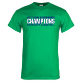 Kelly Green T Shirt-ASUN Champions 2017 Mens Basketball