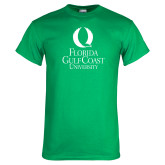 Kelly Green T Shirt-University Mark Stacked