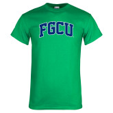 Kelly Green T Shirt-Arched FGCU
