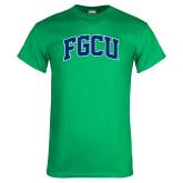Kelly Green T Shirt-Arched FGCU