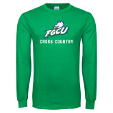 Kelly Green Long Sleeve T Shirt-Cross Country