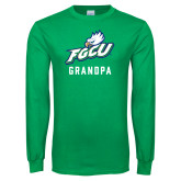 Kelly Green Long Sleeve T Shirt-Grandpa
