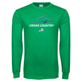 Kelly Green Long Sleeve T Shirt-Cross Country Shoe