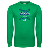 Kelly Green Long Sleeve T Shirt-Softball Seams