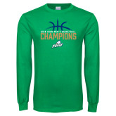 Kelly Green Long Sleeve T Shirt-2016 Atlantic Sun Conference Champions Mens Basketball