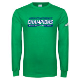 Kelly Green Long Sleeve T Shirt-ASUN Champions 2017 Mens Basketball