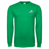 Kelly Green Long Sleeve T Shirt-Primary Athletic Mark