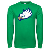 Kelly Green Long Sleeve T Shirt-Eagle Head