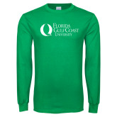 Kelly Green Long Sleeve T Shirt-University Mark Flat