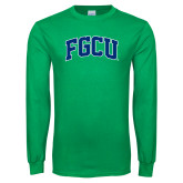 Kelly Green Long Sleeve T Shirt-Arched FGCU