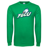 Kelly Green Long Sleeve T Shirt-Primary Athletic Mark Distressed