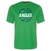 Performance Kelly Green Tee-Basketball in Ball